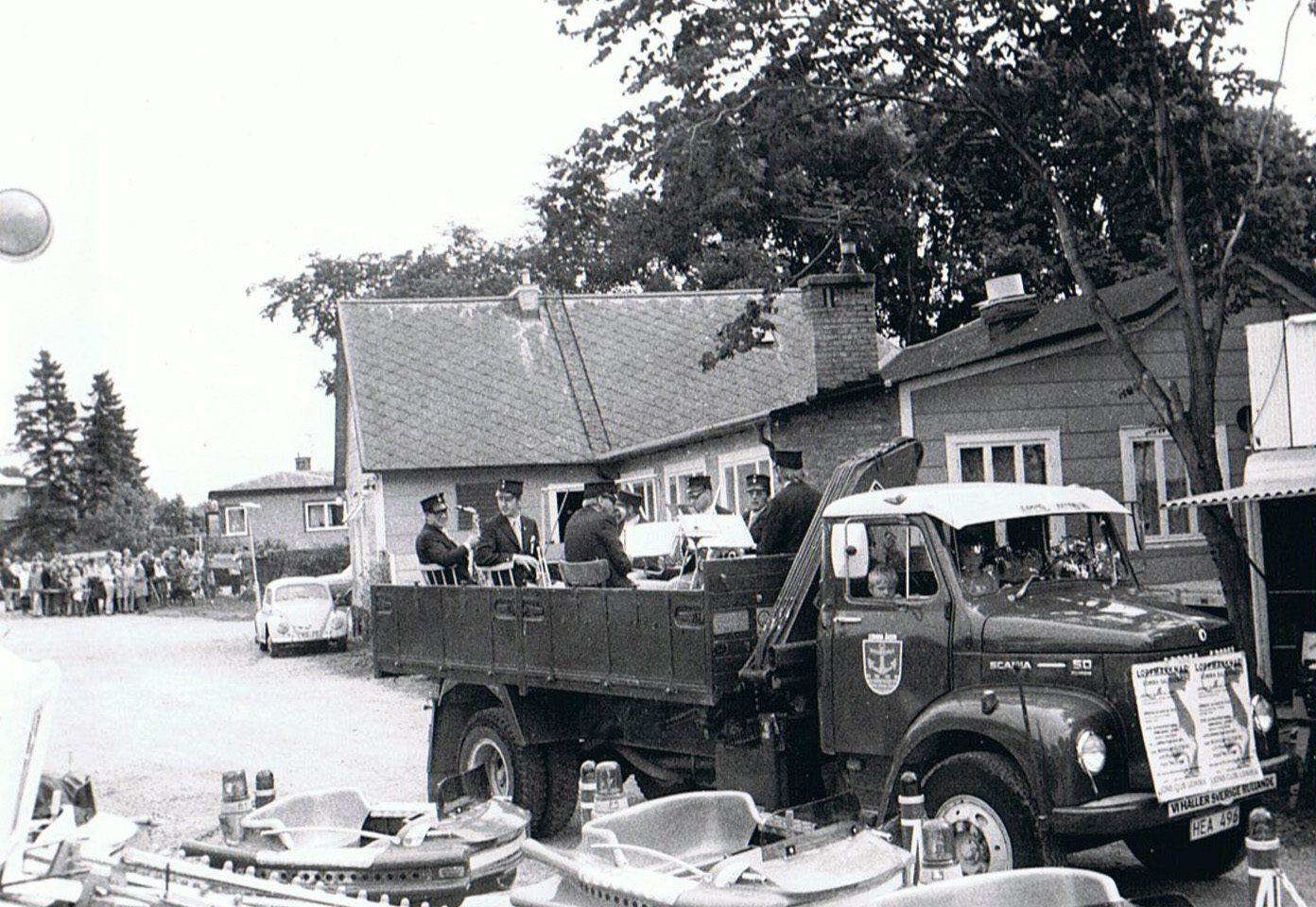 Orkesterbil som användes under många år